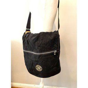 Kipling Crossbody Travel Laptop Bag Black Preowned